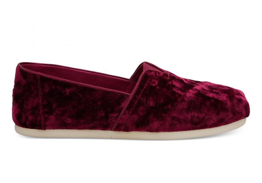 Damen Toms Schuhe – Black Cherry Velvet Classics Black Cherry