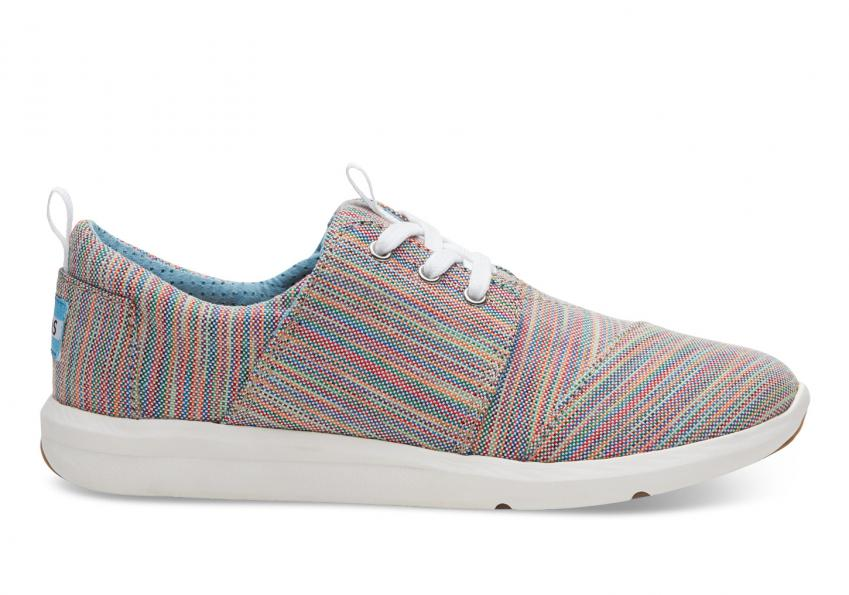 Damen Toms Schuhe – Blue Aster Multi Space Dye Del Rey Sneaker Blue/Multi