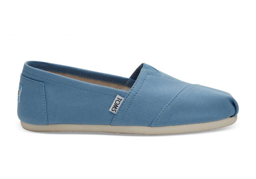 Damen Toms Schuhe – Cornflower Blue Canvas Classics Cornflower Blue