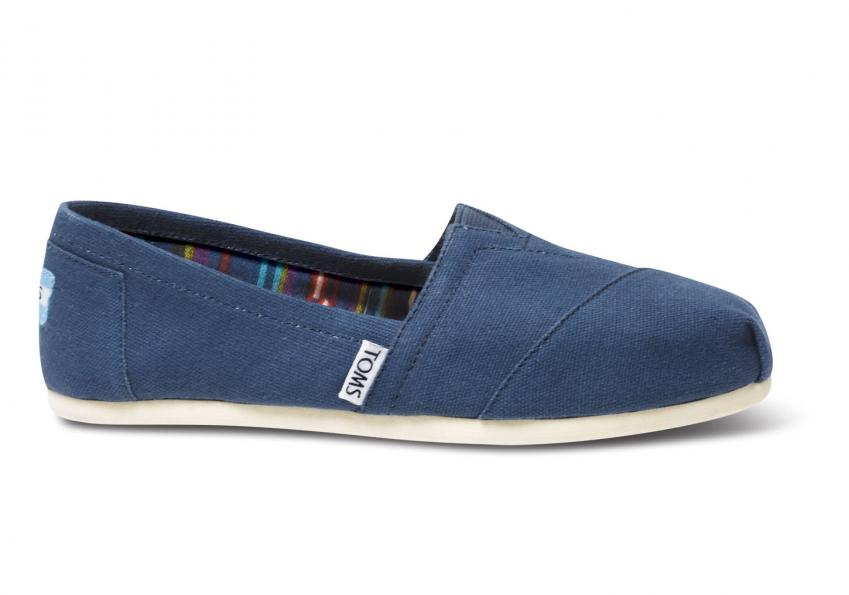 Damen Toms Schuhe – Navy Canvas Classics Navy