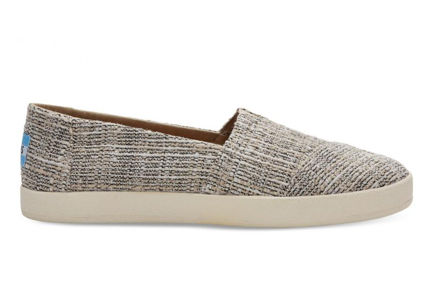 Damen Toms Schuhe – Oxford Tan Multicolor Tweed Avalon Slipper Tan