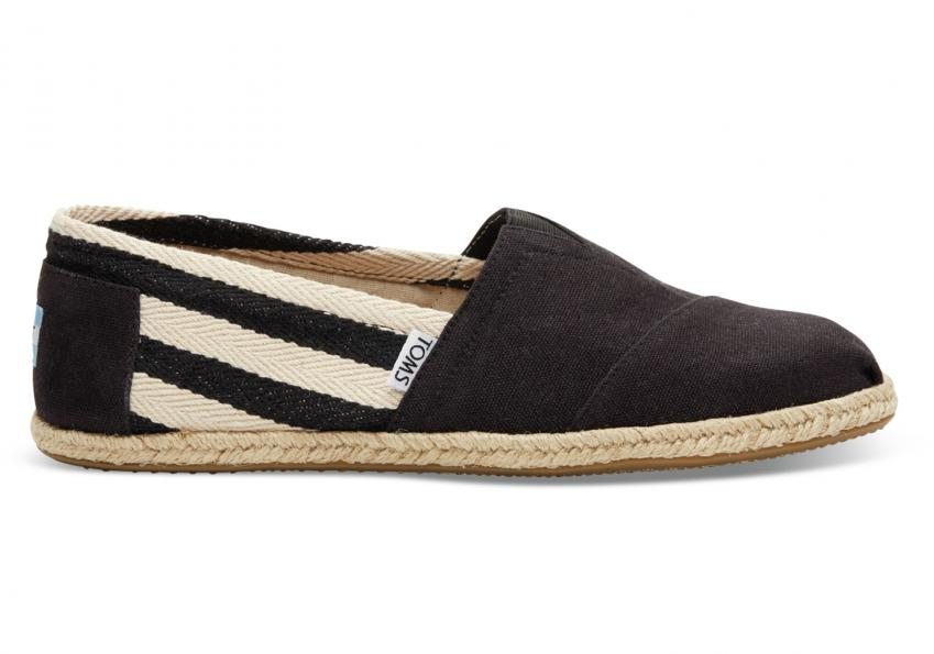 Herren Toms Schuhe – Black Stripe University Classics Black