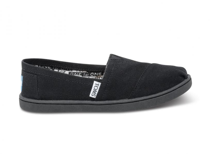 Kinder Toms Schuhe – Black Canvas Classics für Kinder Black