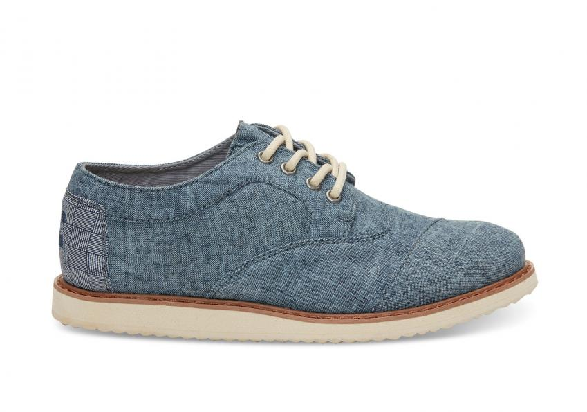 Kinder Toms Schuhe – Blue Chambray Brogues für Kinder Blue