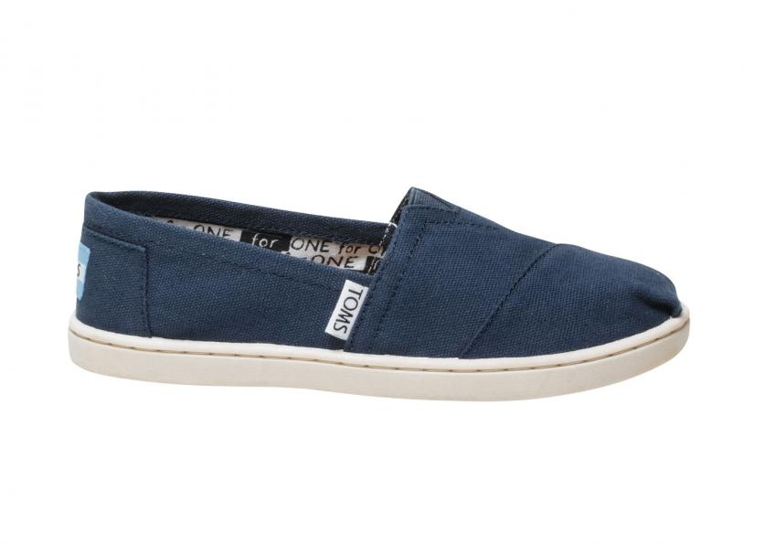Kinder Toms Schuhe – Navy Canvas Classics für Kinder Navy
